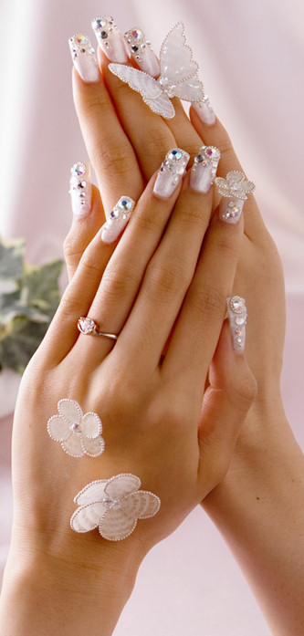 Bridal Nail Art Butterfly Themed Knot For Life