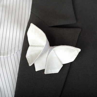 Butterfly Boutonniere for the Groom