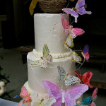DIY Butterfly Wedding Cake