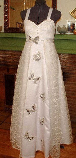Custom Butterfly Wedding Dress