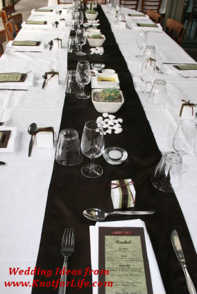 Black & White Wedding Color Scheme/Table Decor