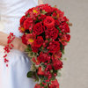 Red Roses and Berries Cascading Bridal Bouq