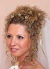 Curly Updo with Golden Accessories