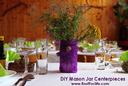 Ideas for do it yourself wedding centerpieces knot for life diy mason jar wedding centerpieces solutioingenieria Image collections