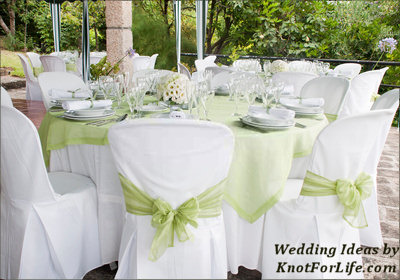 White and green wedding table decoration knot for life green and white wedding table decoration junglespirit