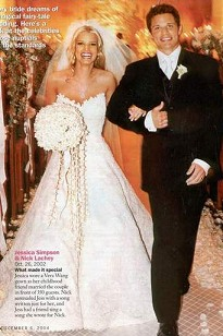 Jessica Simpson's Vera Wang Wedding Dress