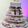 Lavender Cupcake Wedding Cake