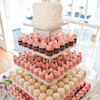 Peach/Pink Cupcake Wedding Cake