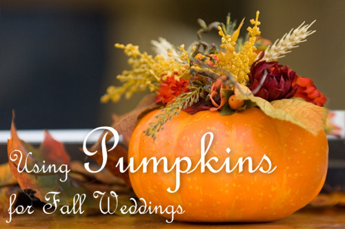 Creative Ideas for Using Pumpkins for Fall Weddings
