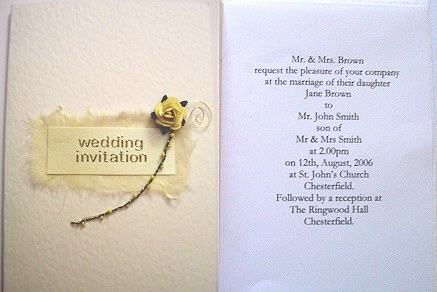 Yellow Rose Wedding Invitation - DIY Wedding Craft Project - Knot ...