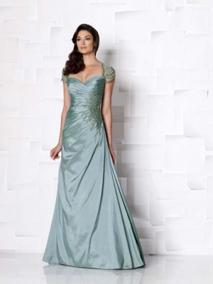 Teal Color Informal Wedding Dress for Second Weddings