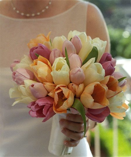Spring Tulips Bridal Bouquet