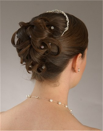 Bridal Hairstyle Updo With Pearl Pins Knot For Life