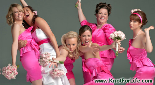 Mccarthy s hot pink dresses the bouquets have light pink roses