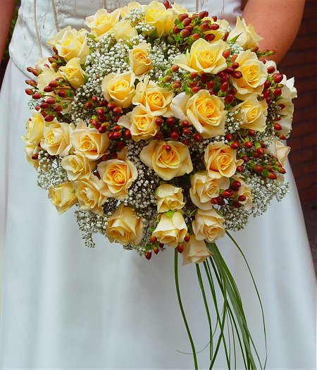 Summer Yellow Roses Bridal Bouquet - Wedding Bouquets ...