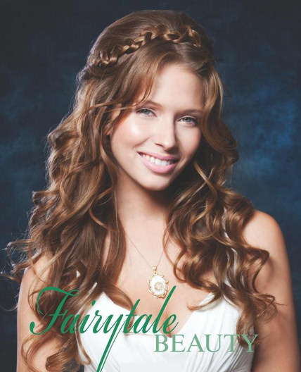 romantic fairytale wedding hairstyle for long hair knot